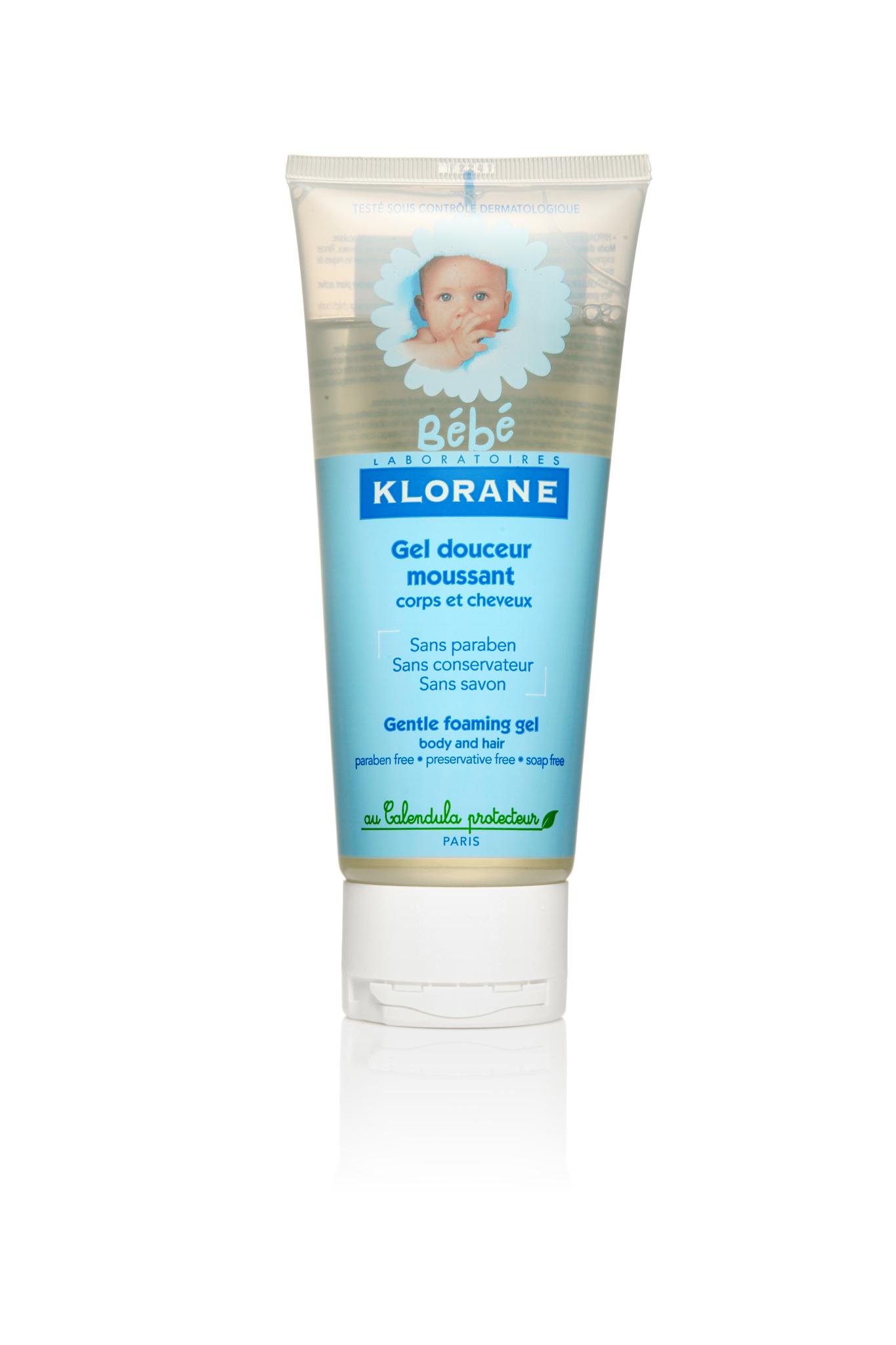 Klorane Bebe гель с экстрактом календулы 200 мл.