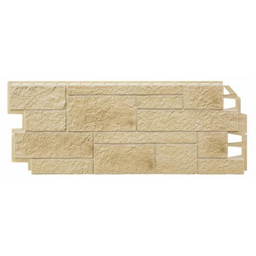 Фасадные панели (Цокольный Сайдинг) VOX Sandstone (Сандстоун) Cream (Кремовый)
