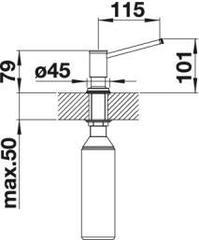 Дозатор Blanco Livia хром схема