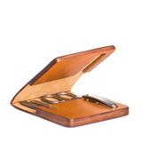 Маникюрный набор MUEHLE, чехол из натуральной коричневой кожи (MCS 1)