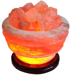Солевая лампа Ваза с камнями 3,5-3,9 кг