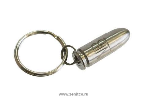 Брелок-макет патрона 9х19 из титана Зенит