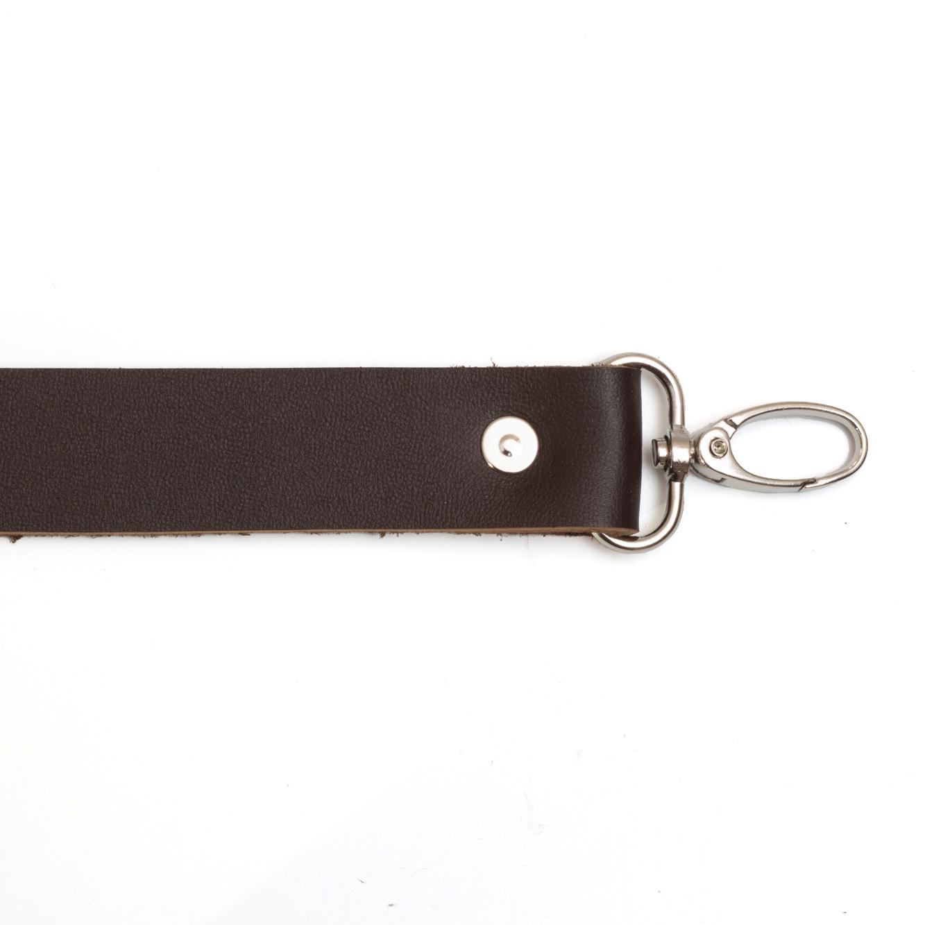 Кожаная фурнитура Ручка кожаная с карабинами темно-коричневая 3мм IMG_9279.jpg