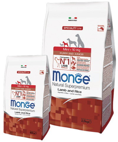 Monge Speciality Line Mini Puppy&Junior Lamb and Rice