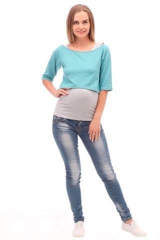 Двойка для беременных и кормящих 09974 зеленый/серый