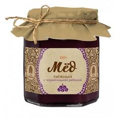 Мёд Таёжный, Сибирский кедр, с соком черноплодной рябины, 220 г.