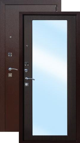 Дверь входная Цитадель Царское Зеркало Макси, 2 замка, 1,2 мм  металл, (медь антик+венге)