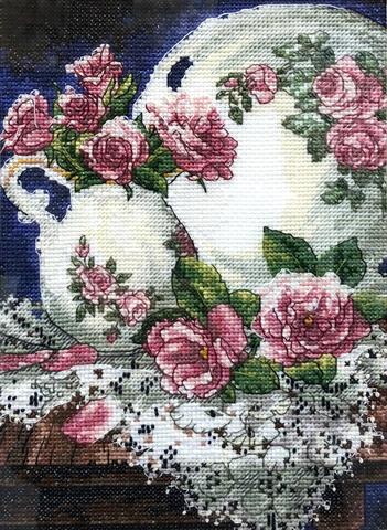 Набор для вышивания Кружева и розы. Арт. 1015