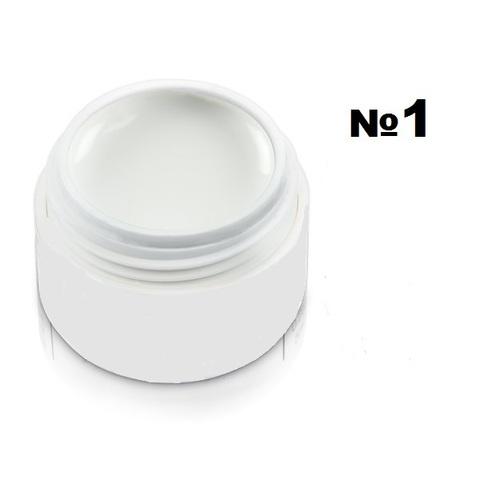Моделирующий гель-пластилин для декоративного дизайна 7гр. №1 Белый 5515