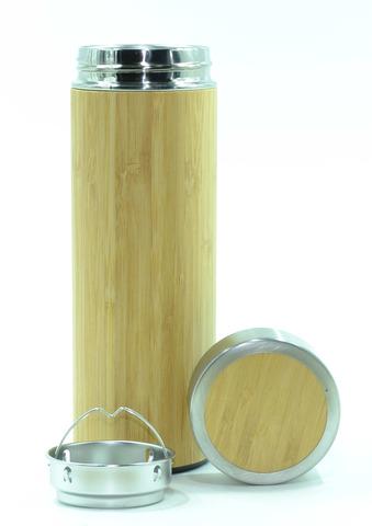 Термос с ситечком Бамбук 420 мл.