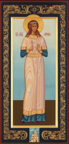 Икона святая Агния на дереве на левкасе мастерская Иконный Дом