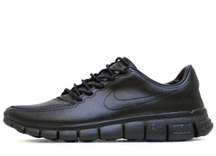 Кроссовки Mужские Nike Free Run 5.0 Black Leather