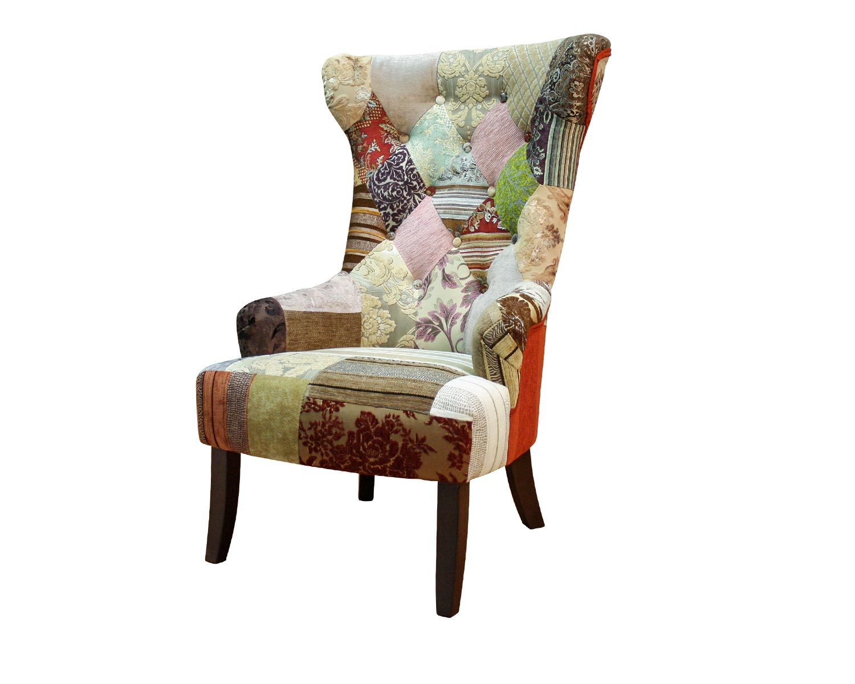 кресло Бахрома Люкс в стиле пэчвок