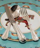 Royal Buckingham столовые приборы с посеребрением Empire на 6 персон 42 предмета