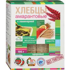 Хлебцы амарантовые с ламинарией, 195 гр. (Ди энд Ди)