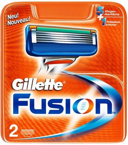 Сменные лезвия Gillette Fusion 2 шт