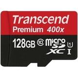 MicroSDXC 128GB Transcend Premium Class 10 UHS-I U1 (SD адаптер)