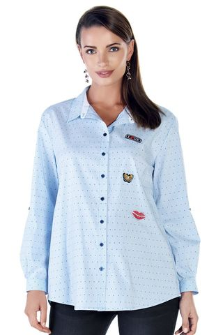 Блузка 09106 голубой