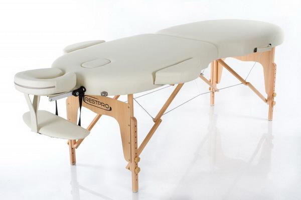 Массажный стол RESTPRO VIP OVAL 2 Cream (EU) фото