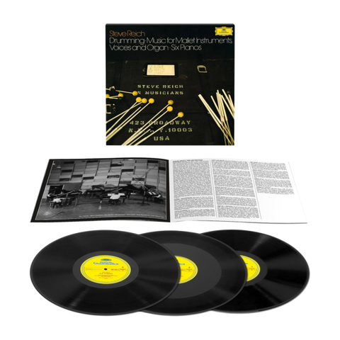 Steve Reich / Drumming, Music For Mallet Instruments, Voices And Organ, Six Pianos (3LP)