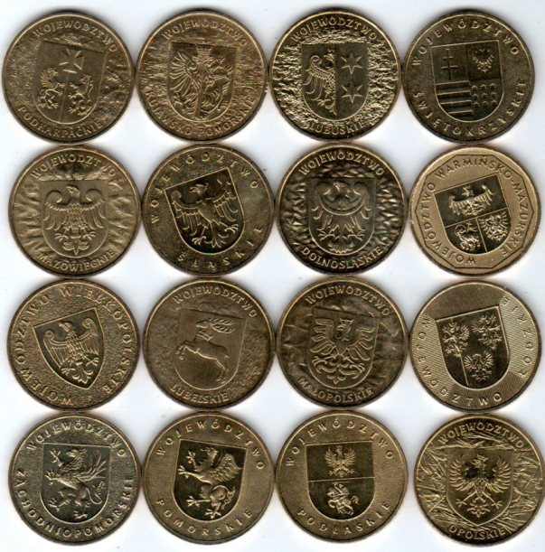 UNC. Набор из 16 монет на тему