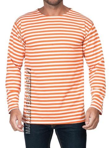 Тельняшка летняя МЧС (оранжевая полоса) ГОСТ МИНОБОРОНЫ