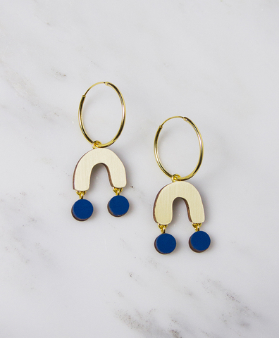 Серьги Miro Hoops Cobalt Blue