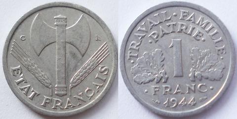 Франция  1 франк