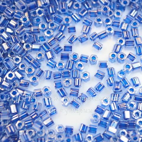0917 Бисер японский TOHO Hexagon (шестиугольный) 11/0, синий деним, цейлон