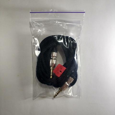 Кабель AUX Jack3.5-Jack3.5 Тканевый 1.5m., black