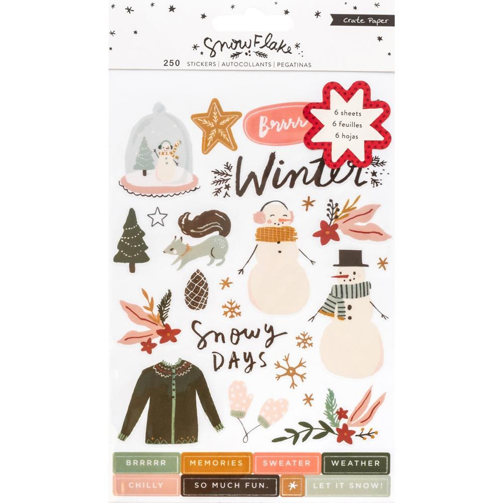 Стикеры  - Snowflake Sticker Book -Copper Foil Accents-250шт