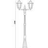 Светильник садово-парковый, 2*100W 230V E27 белый, 6214 (Feron)
