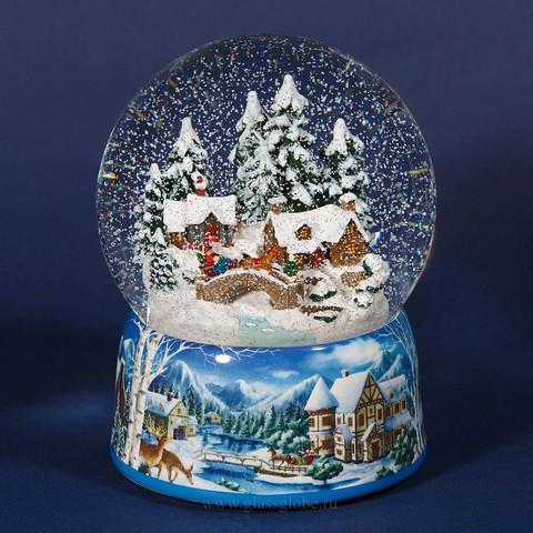 Шар со снегом Снежная деревня