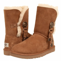 UGG Bailey Button Azalea Chestnut