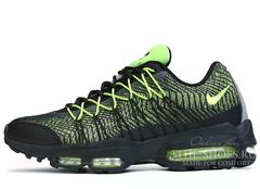 Кроссовки Мужские Nike Air Max 95 Black Green Print