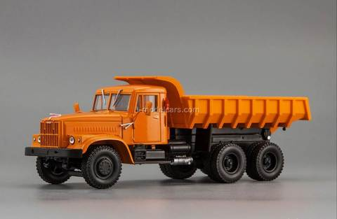KRAZ-256B 1969-1977 from movie Mimino orange 1:43 Nash Avtoprom
