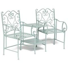Комплект (столик+ 2 кресла) Secret de Maison TET-A-TET (mod. PL08-34283B) металл, 160х69х96см, белая лазурь (white blue)