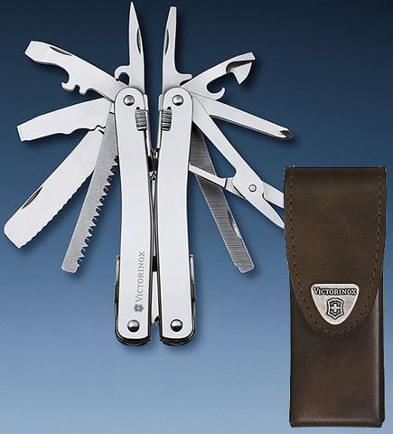 Мультитул Swiss Tool 3.0224.L с чехлом из кожи
