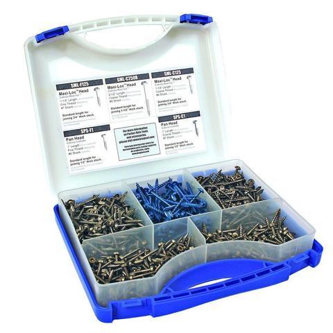 Набор шурупов (675 шт.) в пластиковом чемодане SK03-INT