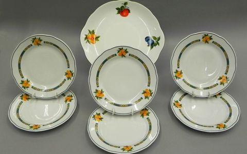 Сервиз для торта 7 предметов с тарелками десертными 19 см Мэри-Энн Leander