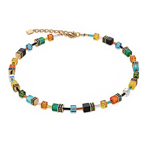 Колье Coeur de Lion 2838/10-1557 цвет мультиколор, оранжевый, зелёный, голубой