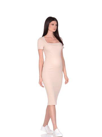 Euromama/Евромама. Платье для беременных и кормящих с двойным лифом, бежевый