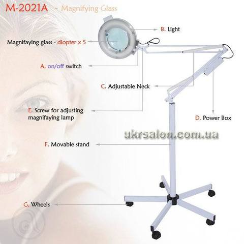 Лампа-лупа М-2021А