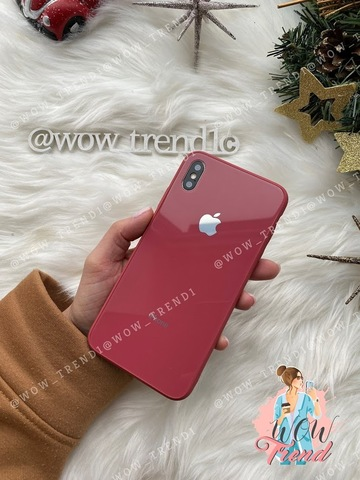 Чехол iPhone X/XS Glass Pastel color Logo /camelia/