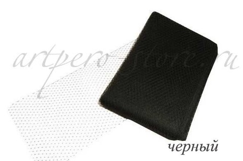 Вуаль шляпная Экстра, ширина 22 см. , черный,  белый.  Выбрать цвет.