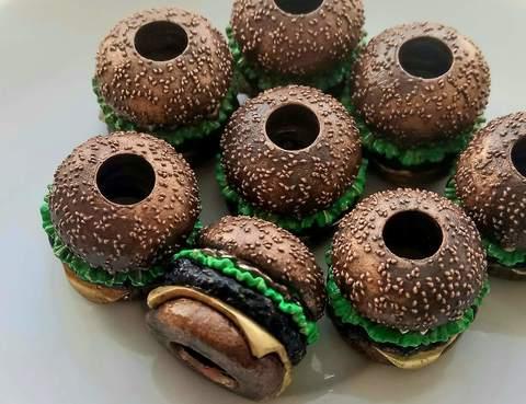бусина на темляк Гамбургер