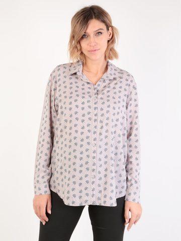 Евромама. Блуза-рубашка для беременных и кормящих, капучино