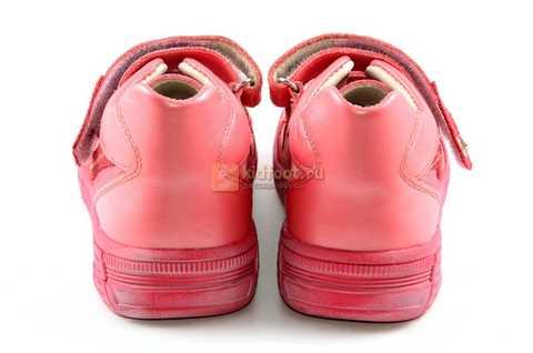 Ботинки Тотто из натуральной кожи на липучках демисезонные для девочек, цвет розовый. Изображение 7 из 12.