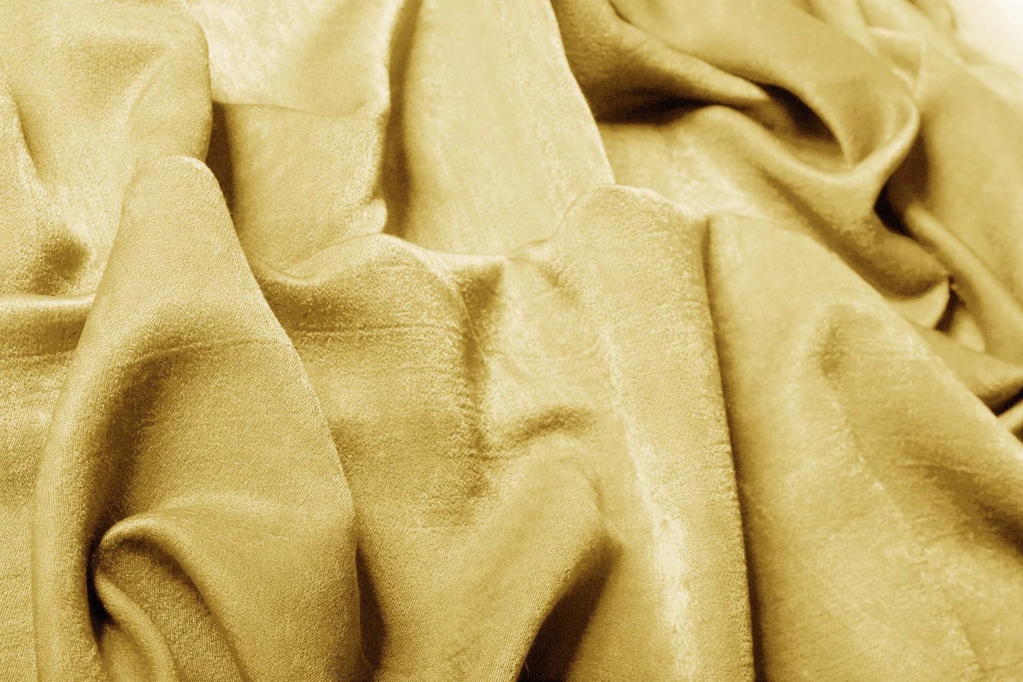 Длинные шторы. Suede (золото).  Имитация замши