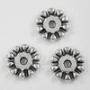 Бусина металлическая - рондель (цвет - античное серебро) 10х2 мм, 10 штук